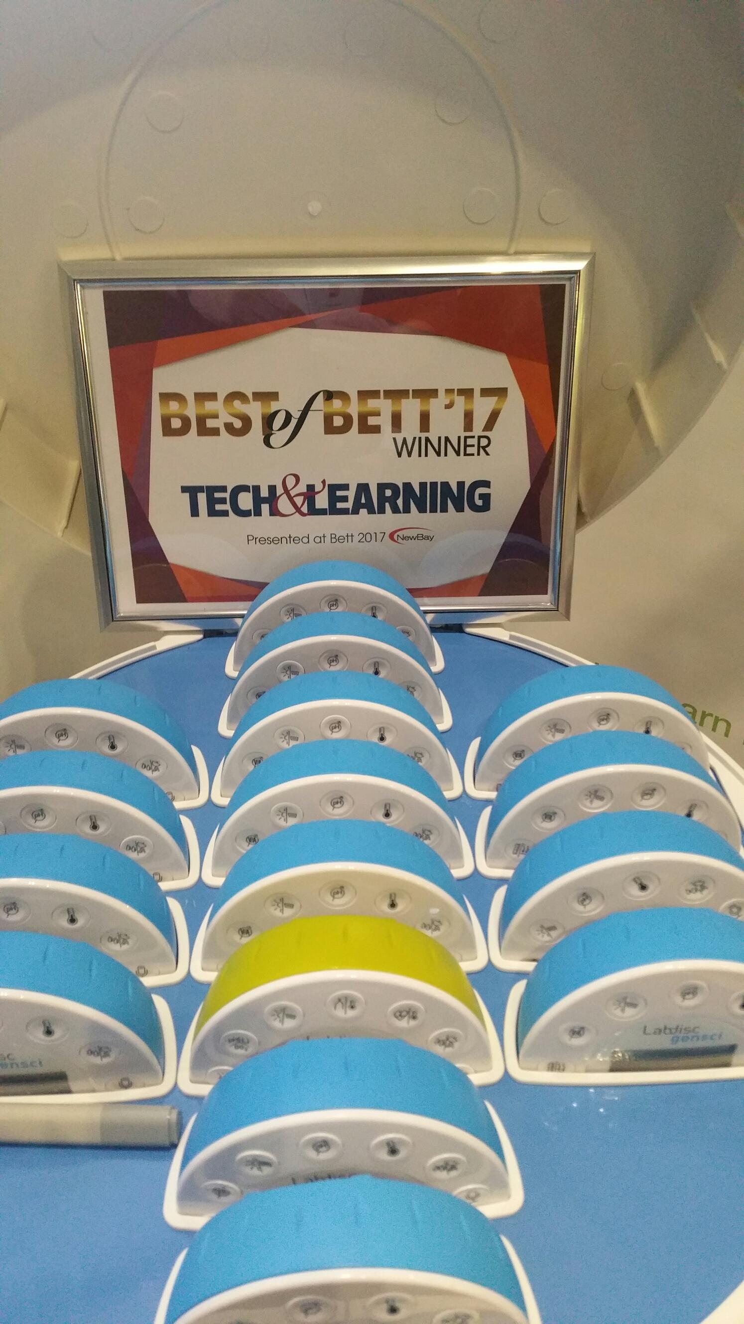 Labdisc Bett 2017 Tech And Learning Award Winner Tyn Can Learning